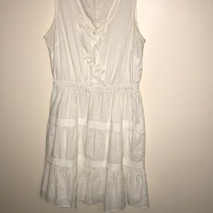 GAP Dresses - White ruffle dress